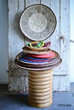 Africana Stool Striped