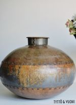 VIntage Metal Pot Bronze
