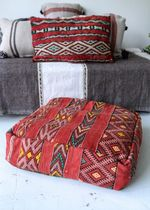 Vintage Floor Cushion Red