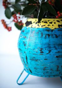 VIntage Metal Pot Blue