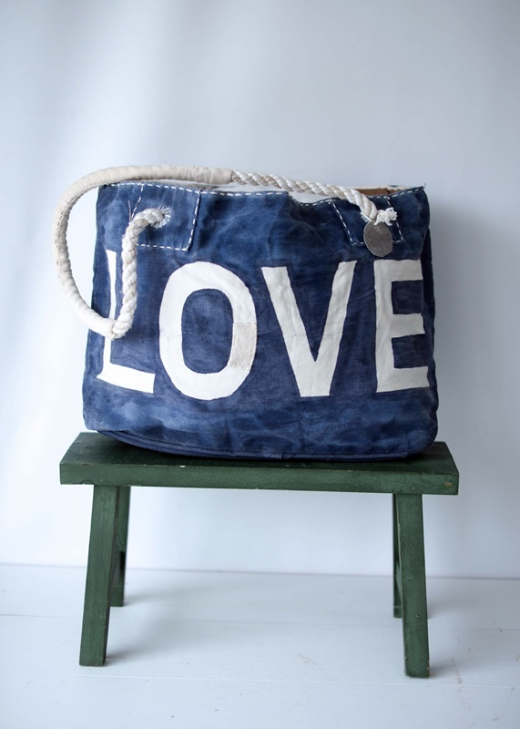 Ali Lamu Shopper Blue Love