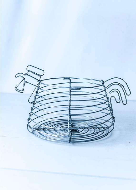 Egg Wire Basket Low